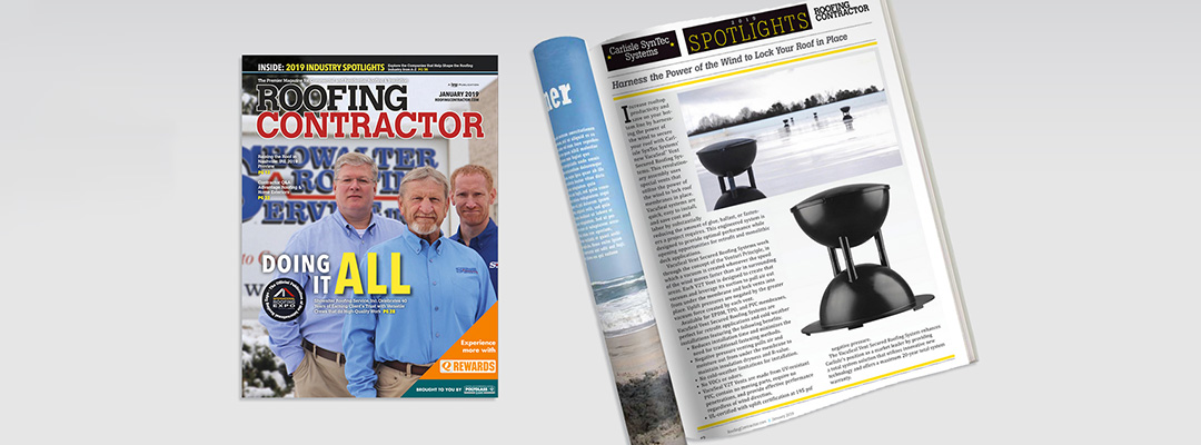 Roofing Contractor Magazine Spotlights Vacuseal Vents V2t